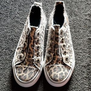 Cheetah print blowfish shoes
